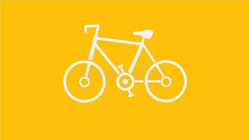 Bicicleta blanca imágenes de archivo libres de regalías