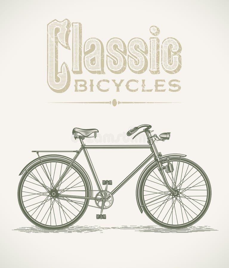 Bicicleta clásica de los gentlemans stock de ilustración