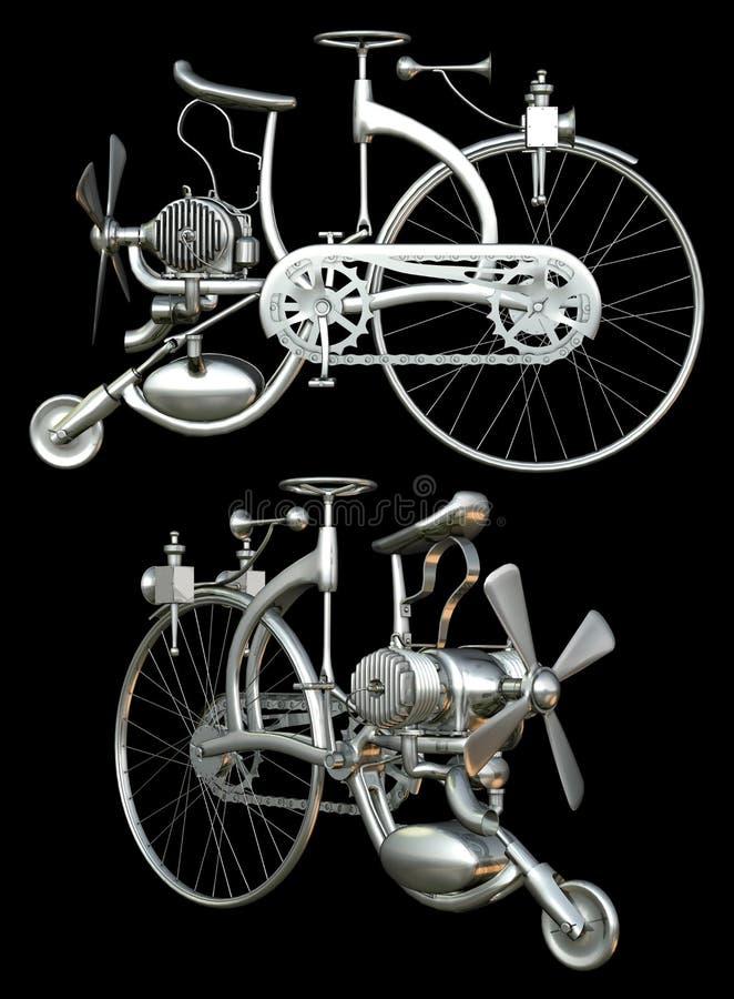 Bicicleta com motor fotografia de stock