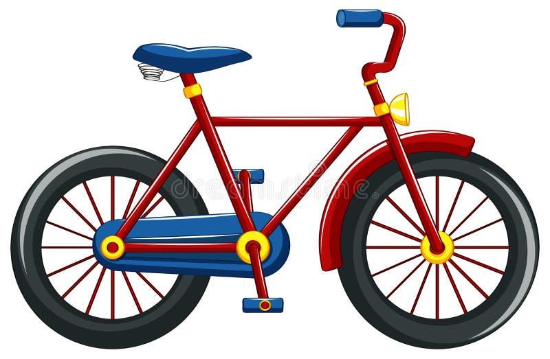 Bicicleta com quadro vermelho ilustração royalty free