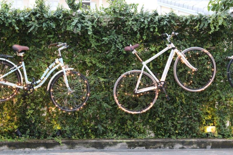 Bicicleta con la iluminación hermosa imágenes de archivo libres de regalías