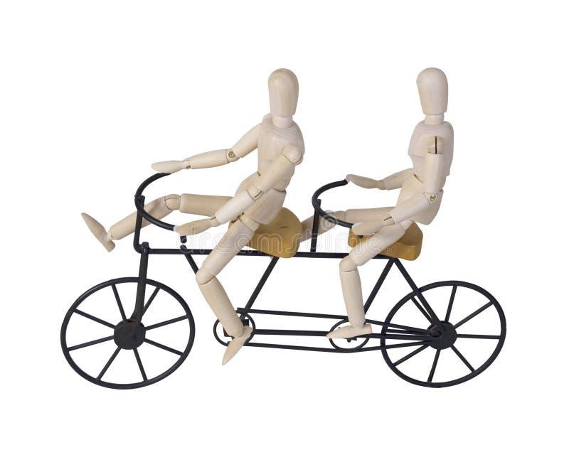 Bicicleta construida para dos foto de archivo