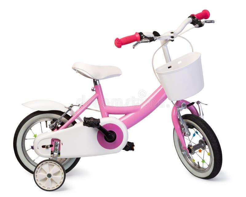 bicicleta cor-de-rosa para crianças fotografia de stock