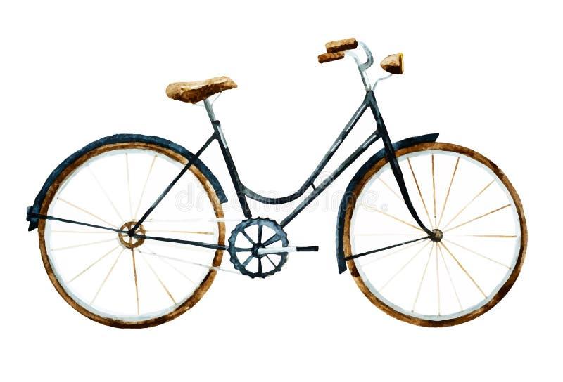Bicicleta da aquarela ilustração royalty free
