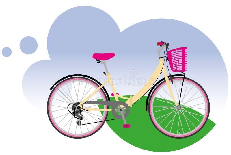 Bicicleta da cidade. ilustração do vetor