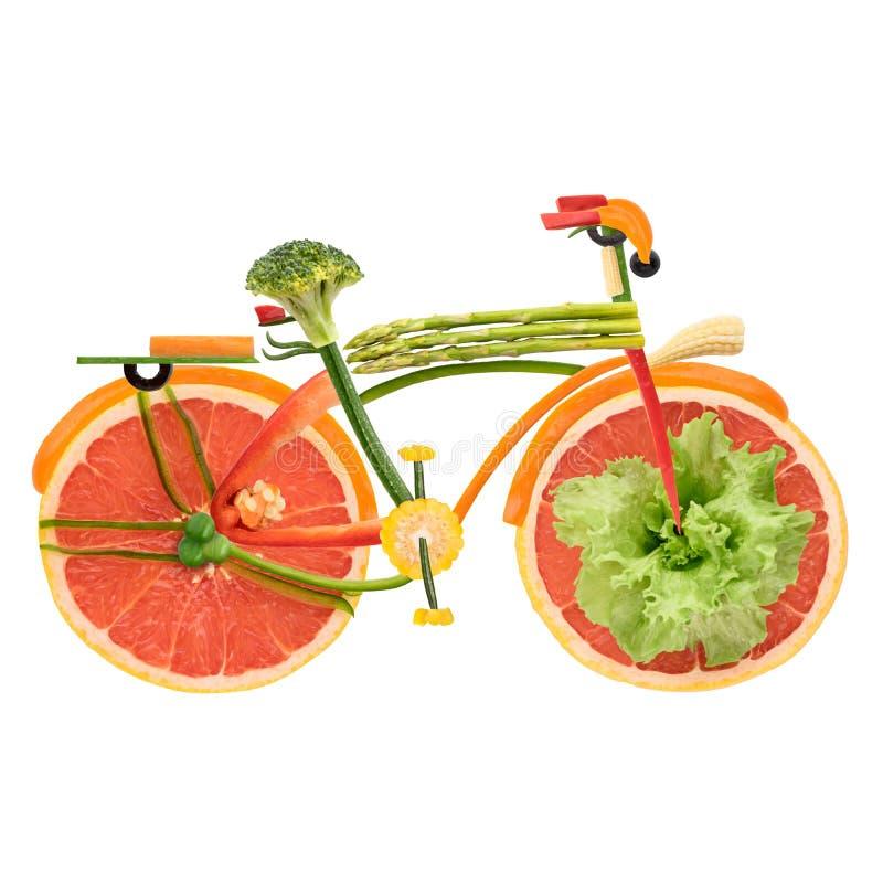 Bicicleta da cidade do vegetariano fotos de stock royalty free