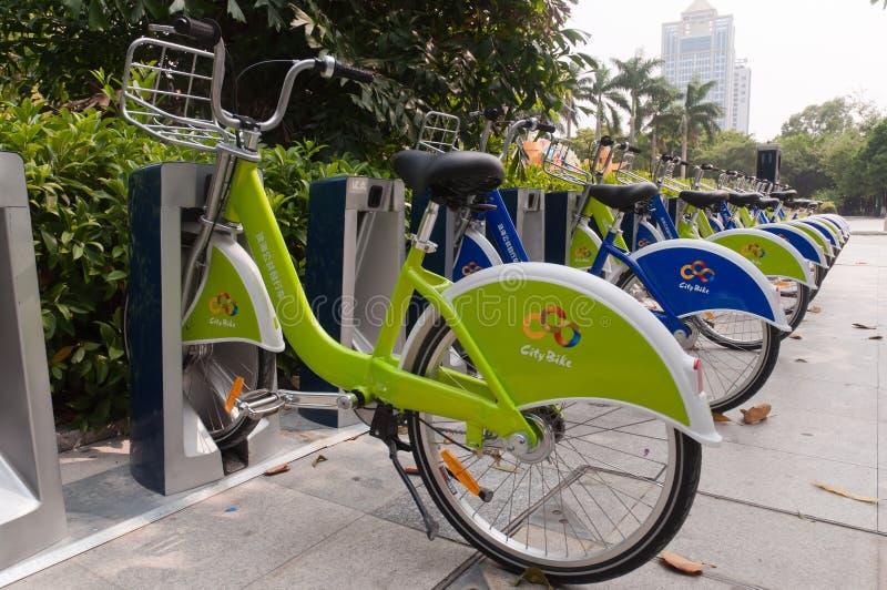 Bicicleta da cidade, Zhuhai China imagem de stock