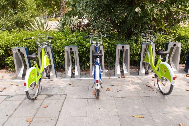 Bicicleta da cidade, Zhuhai China imagens de stock