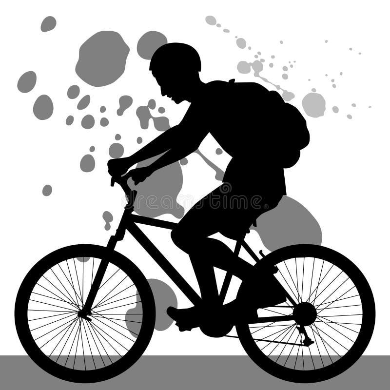 Bicicleta da equitação do adolescente ilustração royalty free