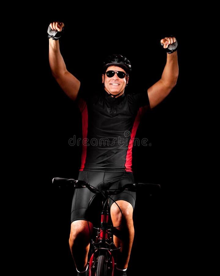 Bicicleta da equitação do ciclista fotos de stock