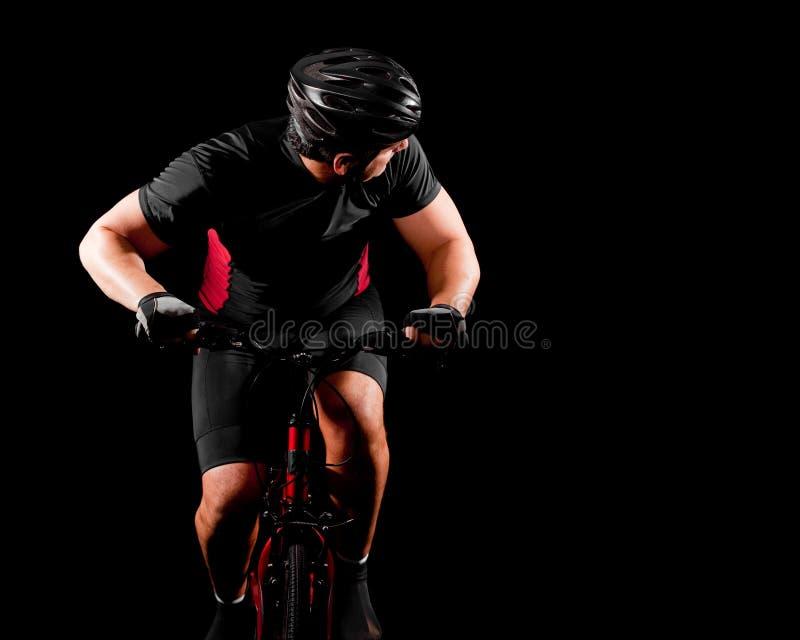 Bicicleta da equitação do ciclista imagem de stock