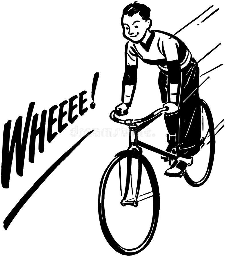 Bicicleta da equitação do menino ilustração royalty free