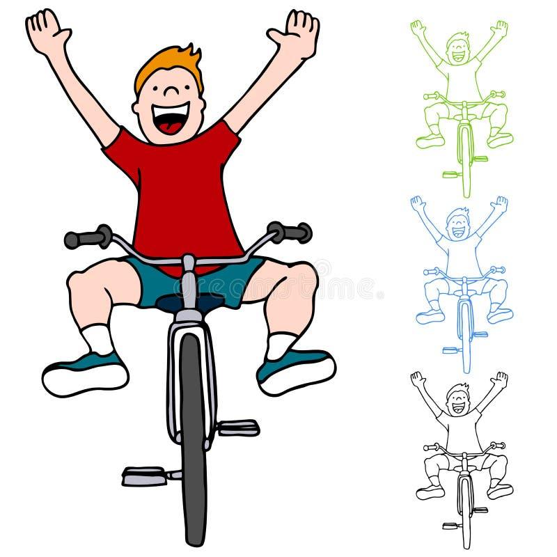Bicicleta da equitação sem mãos ilustração stock