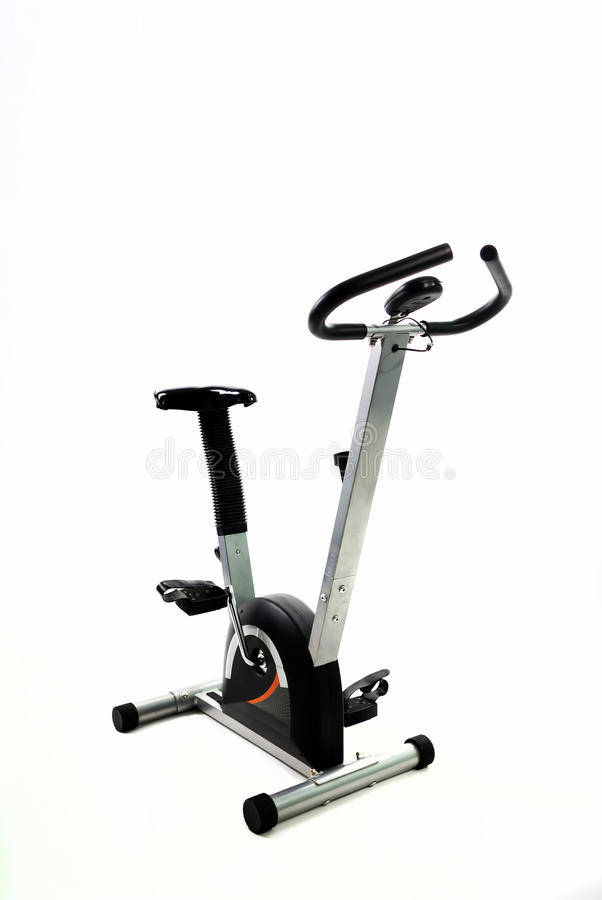 Bicicleta da ginástica do exercício imagens de stock