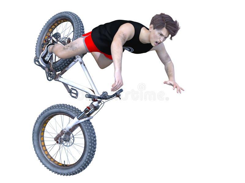 Bicicleta da gordura do passeio do homem novo imagem de stock royalty free