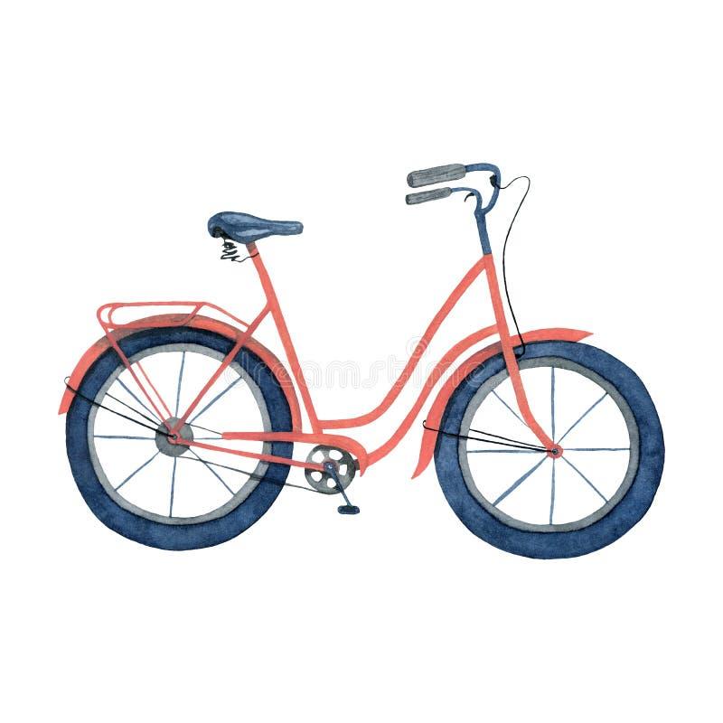 Bicicleta da ilustra??o da aquarela Ilustra??o Handmade da aguarela ilustração royalty free