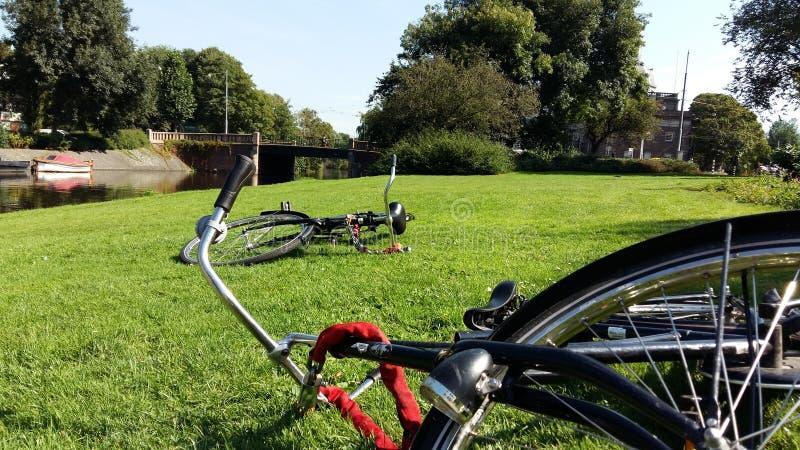 Bicicleta de Amsterd?o imagem de stock royalty free