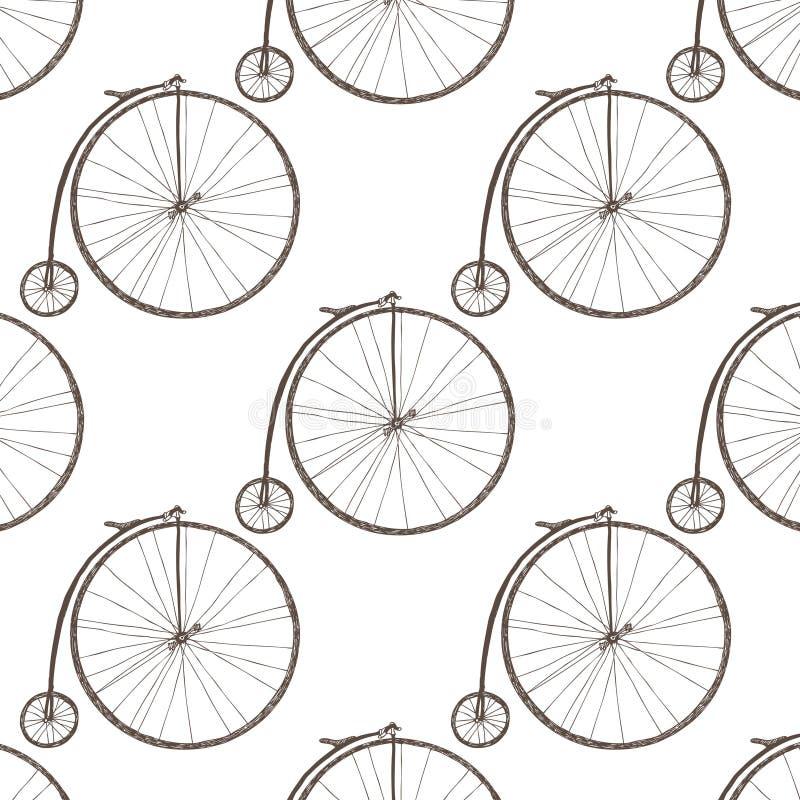 Bicicleta de la rueda grande ilustración del vector