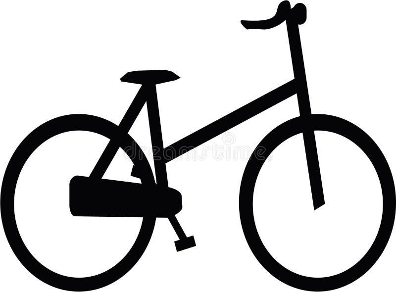 Bicicleta de la silueta fotografía de archivo libre de regalías