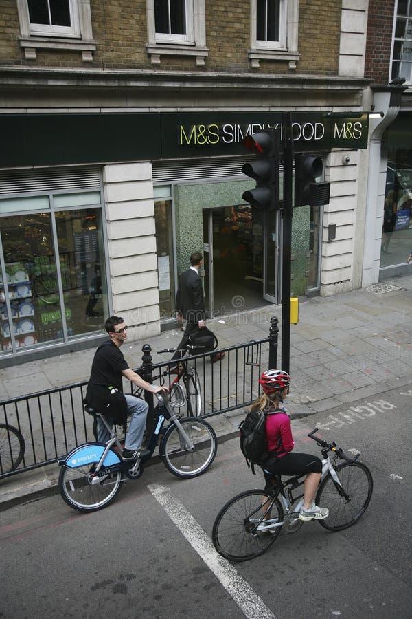 Bicicleta de Londres que compartilha do esquema fotografia de stock