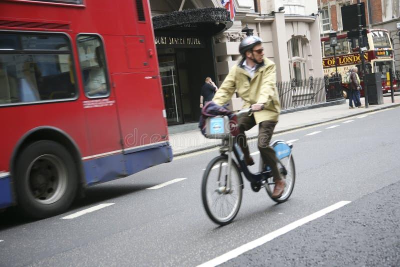 Bicicleta de Londres que compartilha do esquema imagens de stock royalty free