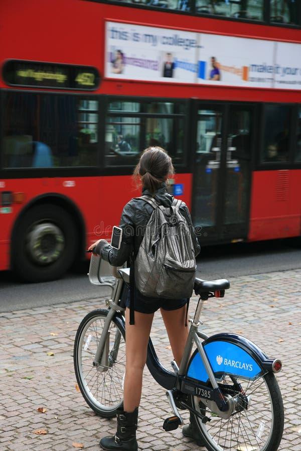 Bicicleta de Londres que compartilha do esquema imagem de stock royalty free