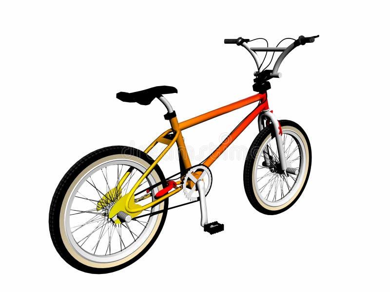 Bicicleta de Mbx sobre blanco. ilustración del vector