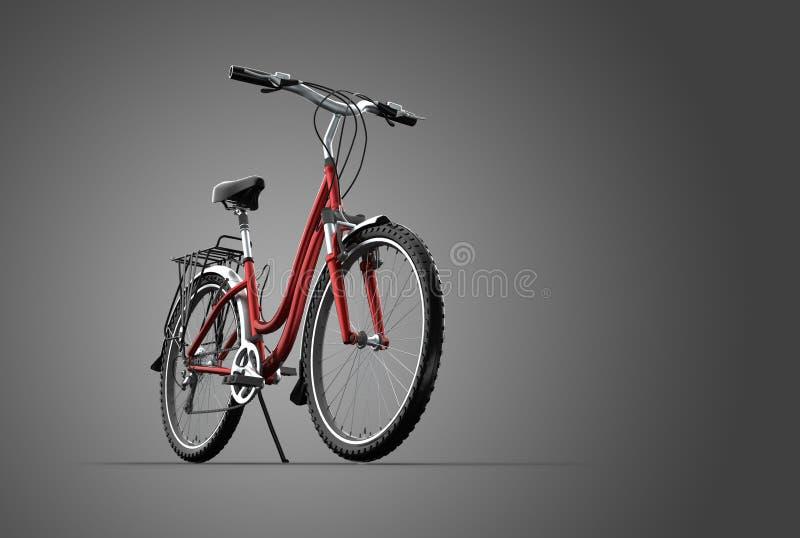 bicicleta de montanha 3D no fundo cinzento ilustração do vetor
