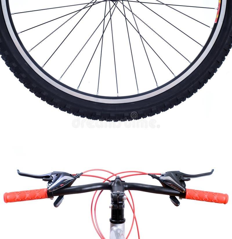 Bicicleta de montanha da roda fotografia de stock