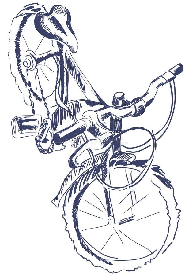 Bicicleta del bosquejo foreshottering imagenes de archivo