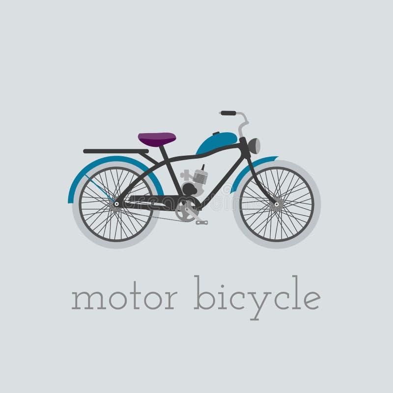 Bicicleta del motor stock de ilustración