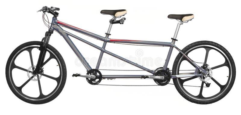 Bicicleta del tándem de Isoalted fotografía de archivo