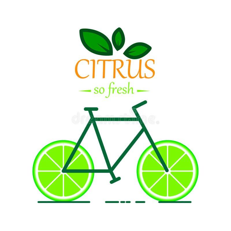 Bicicleta del vector de la salud fotos de archivo