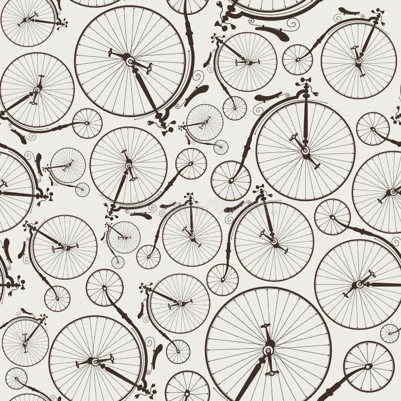 Bicicleta del vintage inconsútil libre illustration