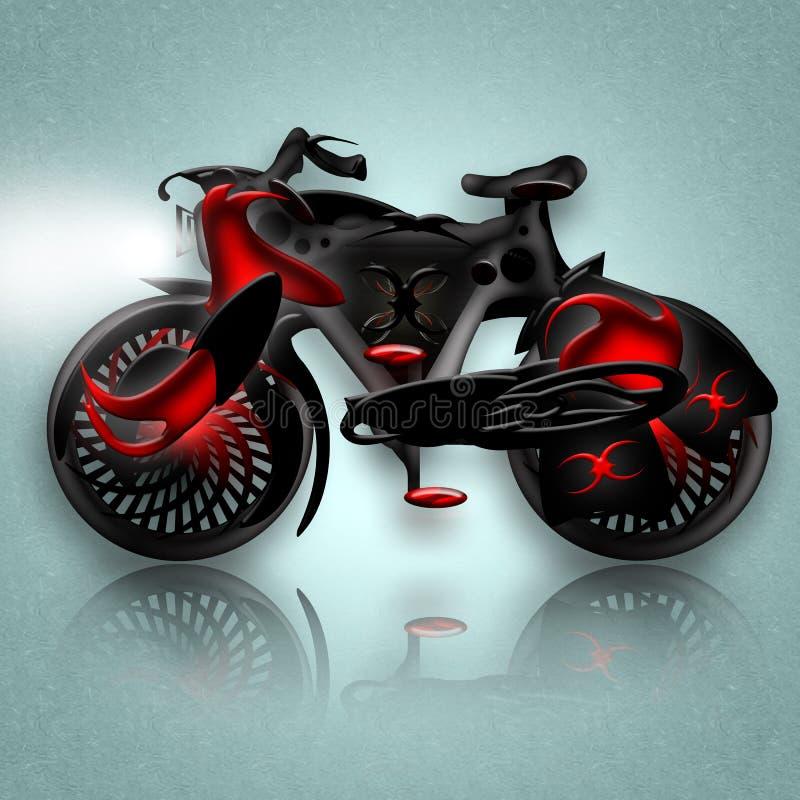 Bicicleta do cavaleiro preto ilustração do vetor