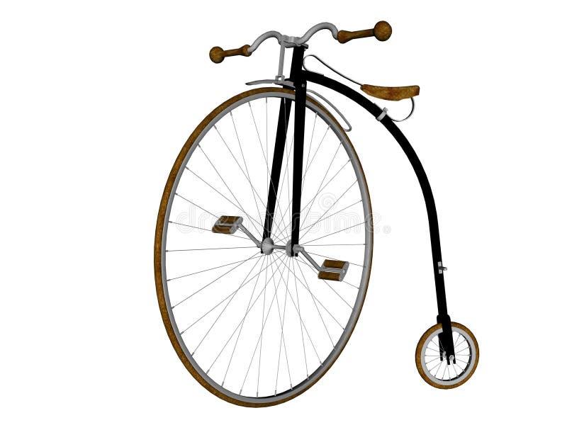 Bicicleta do farthing da moeda de um centavo ilustração royalty free