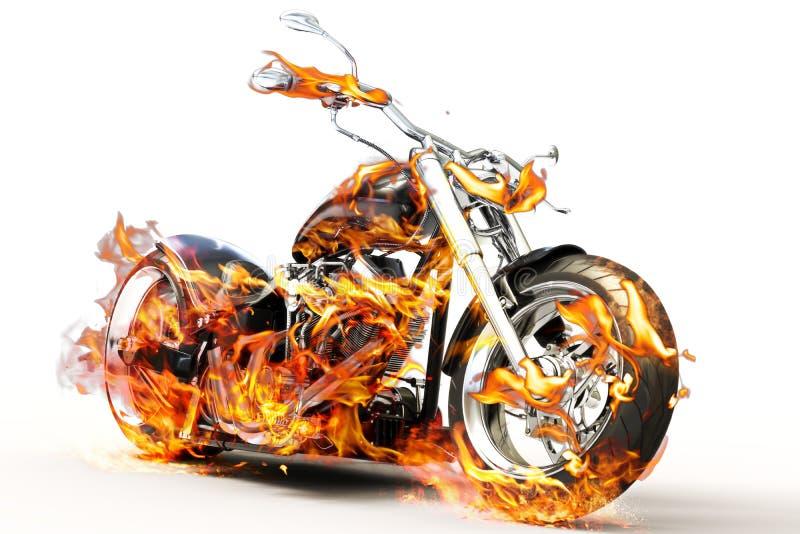Bicicleta do fogo ilustração stock