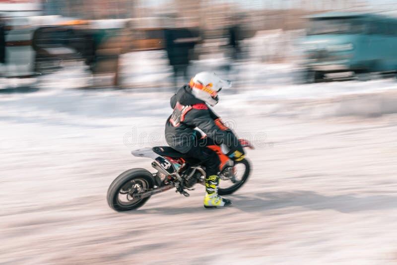 A bicicleta do motocross da roda traseira foto de stock royalty free
