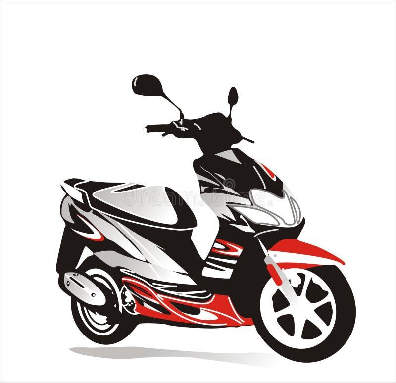 Bicicleta do motor ilustração stock