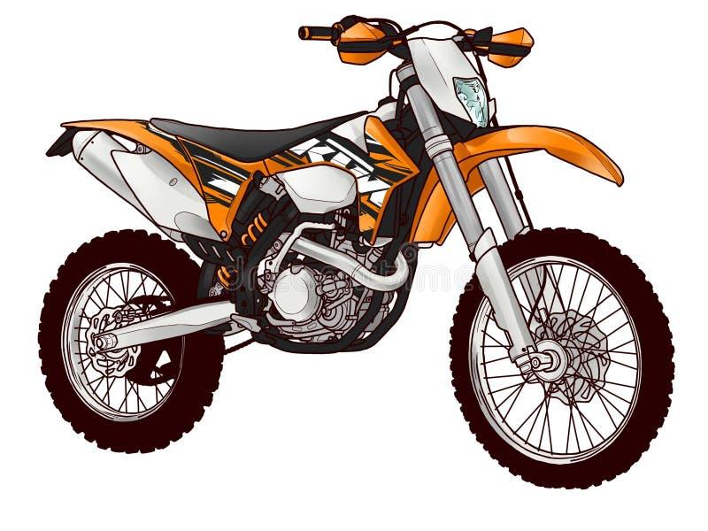Bicicleta do motor ilustração do vetor