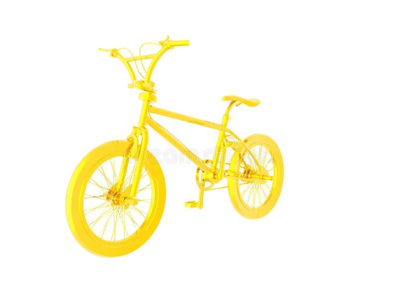 Bicicleta do ouro ilustração royalty free