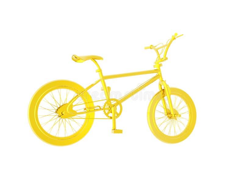 Bicicleta do ouro ilustração stock