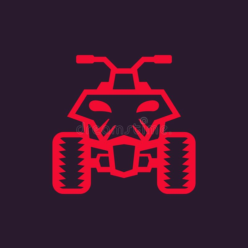 Bicicleta do quadrilátero, ícone do atv ilustração do vetor
