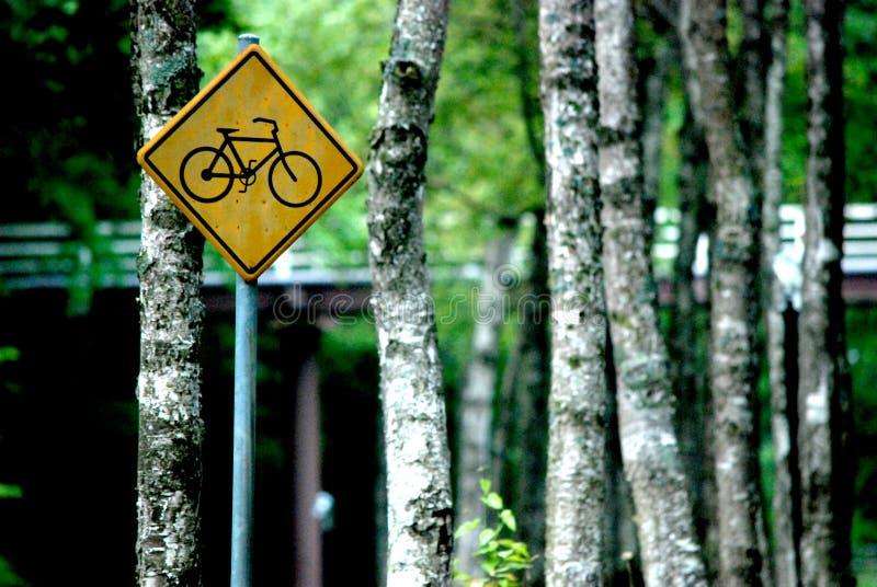 Bicicleta do sinal no hotel Hakodate do príncipe imagens de stock royalty free