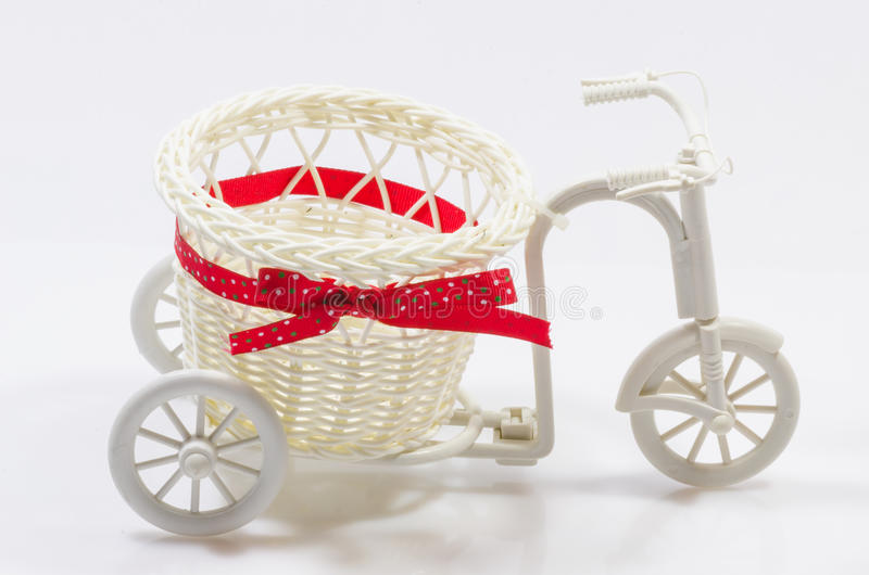 Bicicleta do vaso de flores fotografia de stock royalty free