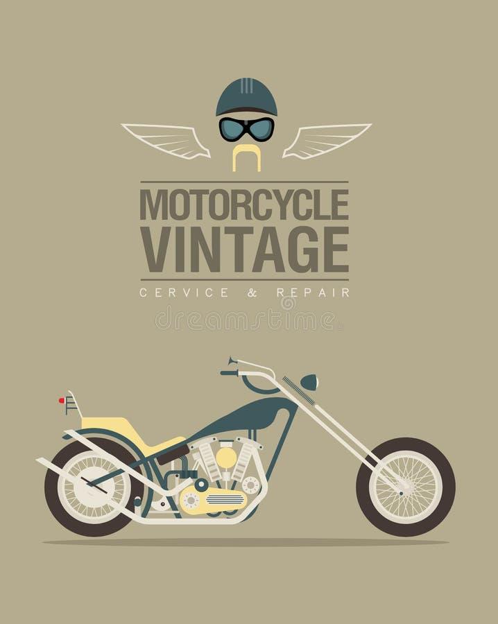 Bicicleta do vintage ilustração stock