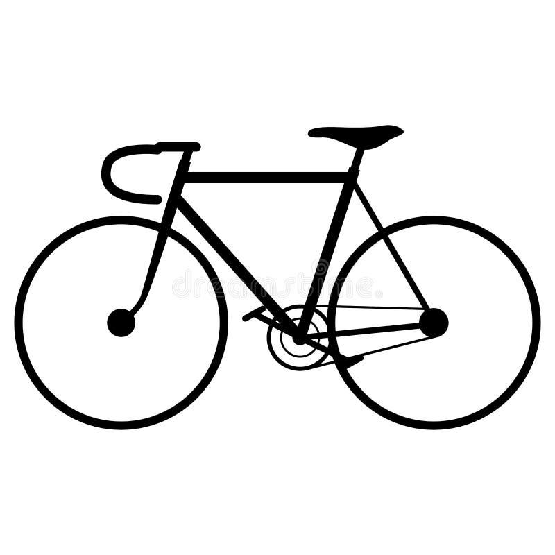 Bicicleta, ejemplo del vector Silueta negra ilustración del vector