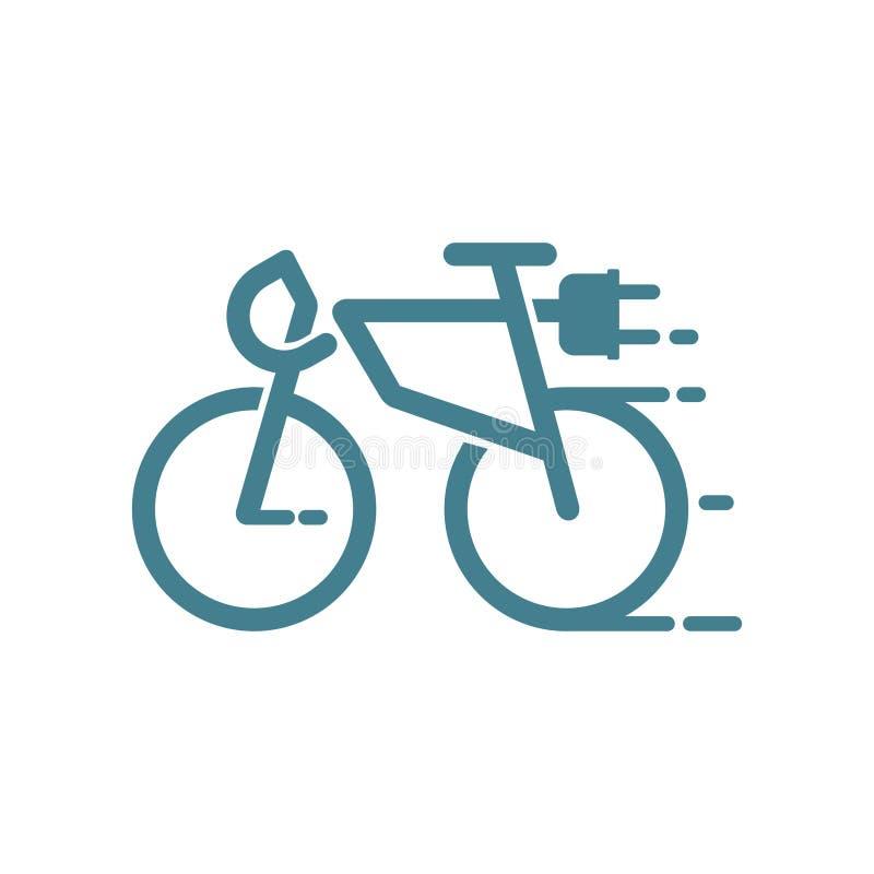 Bicicleta elétrica ilustração do vetor