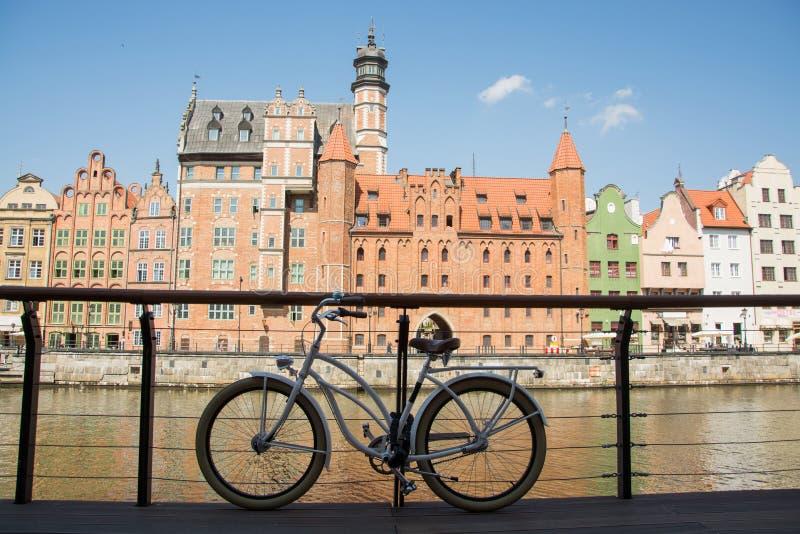 Bicicleta em gdansk fotos de stock royalty free
