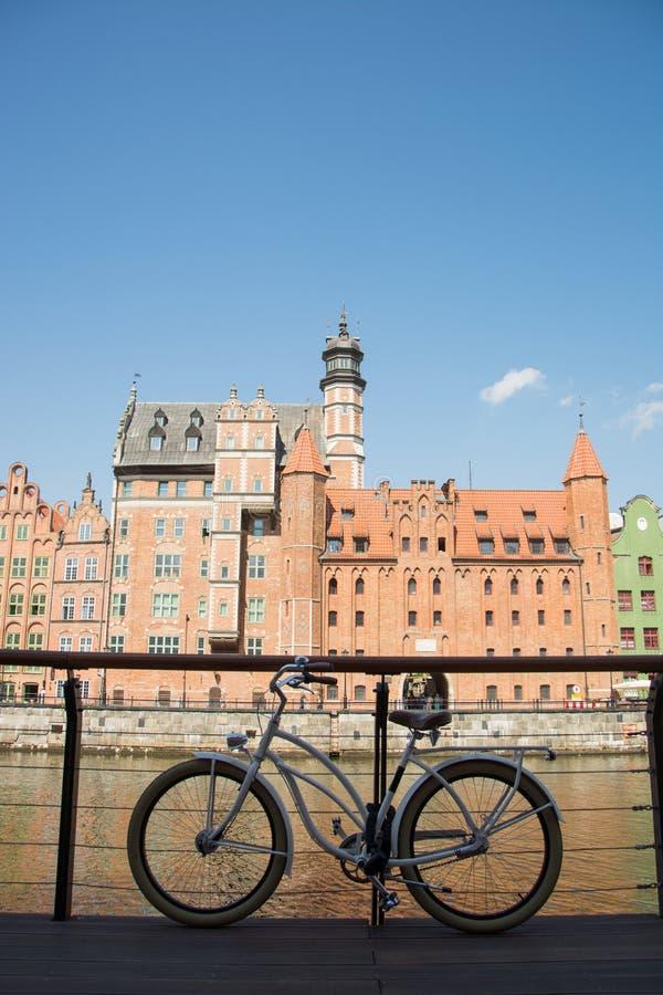 Bicicleta em gdansk fotografia de stock